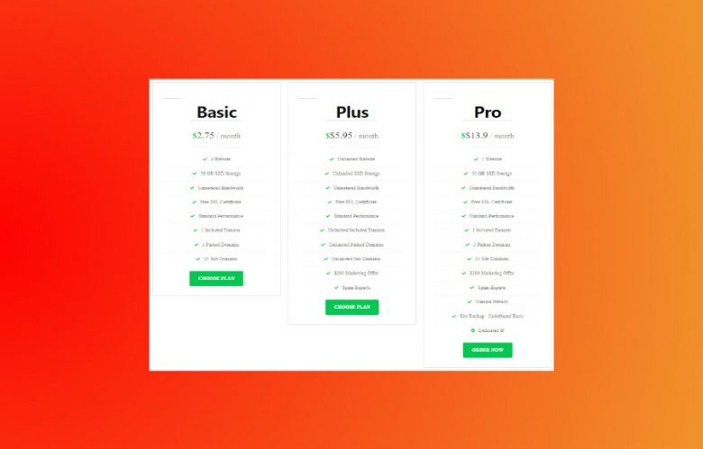 How to Create a Beautiful Pricing Table in WordPress for
