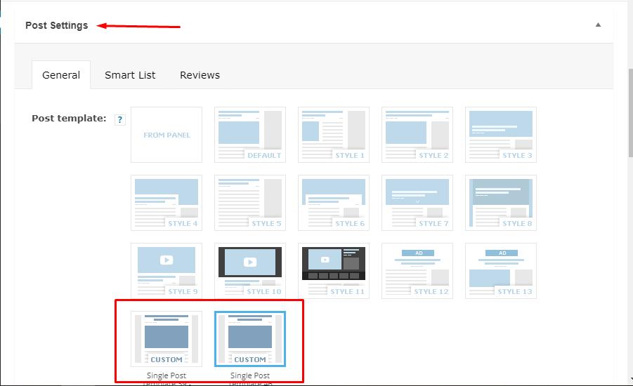 Wordpress single post template example